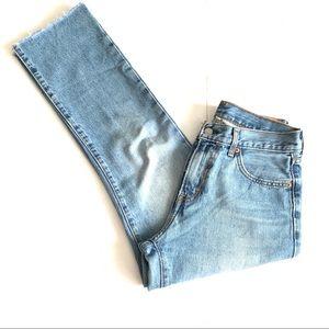Levi's Kick Flare Raw Hem Jeans